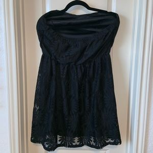 Deb Dresses - Deb Short Strapless Lace Dress